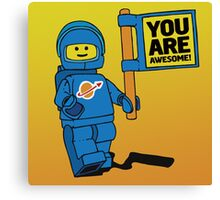 Lego-Inspired Benny | You Are Awesome!  Canvas Print