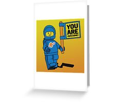 Lego-Inspired Benny | You Are Awesome!  Greeting Card
