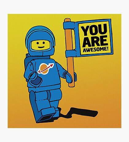 Lego-Inspired Benny | You Are Awesome!  Photographic Print
