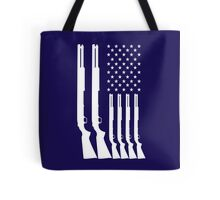 US American Flag HUNTING GUNS Tote Bag