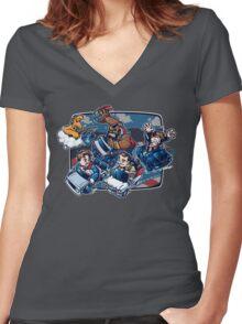 Super 80's Kart Women's Fitted V-Neck T-Shirt