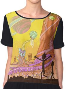 Wild Planet cartoon Chiffon Top