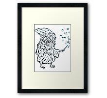 Wizard man Framed Print
