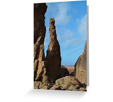 SANDYMOUTH BEACH ROCK STACK CORNWALL Greeting Card