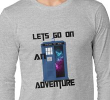 TARDIS- Let's go on an adventure #1 Long Sleeve T-Shirt