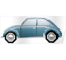 VW Beetle Bug Pixel Art Poster