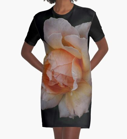 Rose Graphic T-Shirt Dress