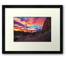Joshua Tree National Park Sunset 1 Framed Print