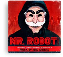 Mr Robot FSociety Canvas Print
