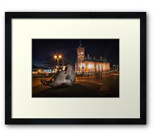 Pierhead building and Merchant Seafarer's War Memorial Framed Print