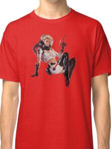 Pin-Up Cosmonaut Girl Classic T-Shirt