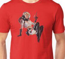 Pin-Up Cosmonaut Girl Unisex T-Shirt