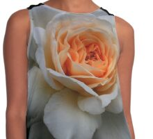 White Rose  Contrast Tank