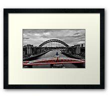 Red Swing Framed Print
