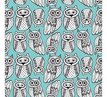 Cute Owl Sketch Doodle  pattern Photographic Print