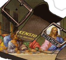 Last Supper Birkenstocks Sticker