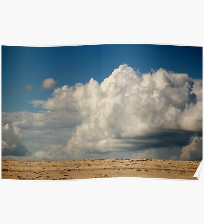 Clouds Touching Earth Poster