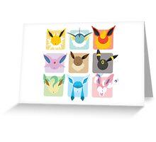 Eeveelutions Grid2 Greeting Card
