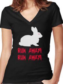 Monty Python - The Holy Grail - Killer Bunny Rabbit Women's Fitted V-Neck T-Shirt
