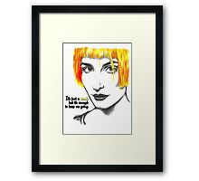 It's just a spark but it's enough to keep me going - Hayley Williams Framed Print