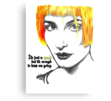 It's just a spark but it's enough to keep me going - Hayley Williams Metal Print
