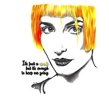 It's just a spark but it's enough to keep me going - Hayley Williams by Susanna Olmi