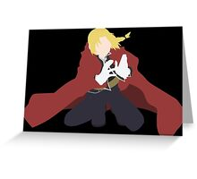 Edward Elric Anime Manga Shirt Greeting Card