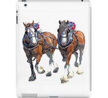 Working Clydesdales iPad Case/Skin