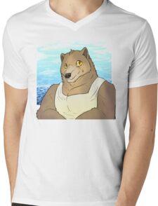 Ocean Bear Mens V-Neck T-Shirt