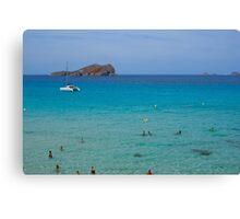 Cala Conta beach (Ibiza) Canvas Print