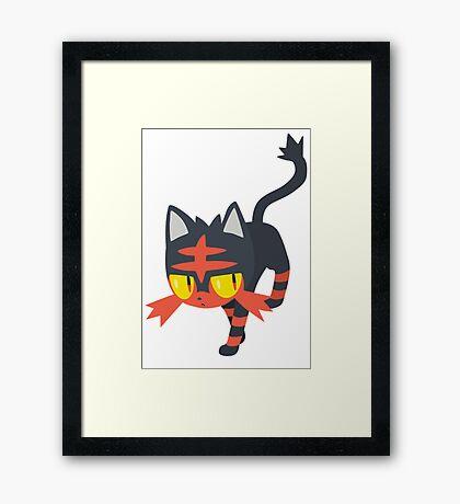 Litten Pokemon Sun and Moon Framed Print