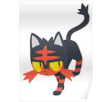Litten Pokemon Sun and Moon Poster