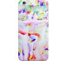MARILYN MONROE on the bed - WATERCOLOR PORTRAIT iPhone Case/Skin