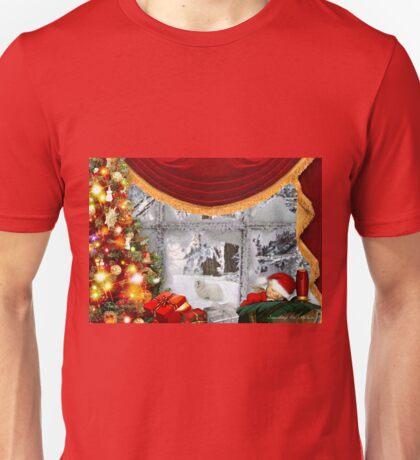 Snowdrop the Maltese & Santa's Elf Unisex T-Shirt