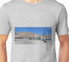 Halki Harbour Panorama Unisex T-Shirt