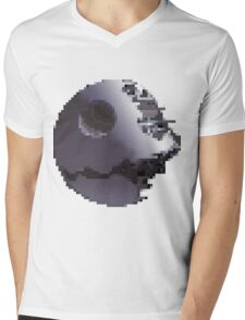 Pixel Art Death Star (Star Wars) Mens V-Neck T-Shirt
