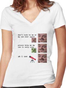 forsenE 140IQ forsenE Women's Fitted V-Neck T-Shirt