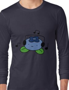 Bluberry with Headphones Long Sleeve T-Shirt