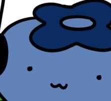 Bluberry with Headphones Sticker