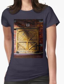 Old warehouse door Womens Fitted T-Shirt