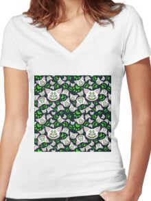 Mr Fury Green Alternative One Women's Fitted V-Neck T-Shirt