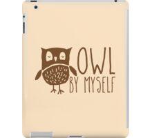 owl by myself iPad Case/Skin