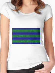 Pool Water Gradient - Blue | Green | Black Women's Fitted Scoop T-Shirt
