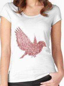 Scribble Bird Women's Fitted Scoop T-Shirt