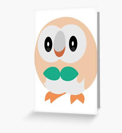 Rowlet Pokemon Sun and Moon Greeting Card