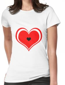 REd Heart Womens Fitted T-Shirt