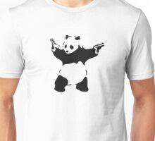 Banksy - armed Panda Bear Unisex T-Shirt
