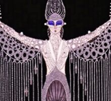 "Art Deco Design by Erte ""Pearls"" Sticker"