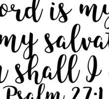 Psalm 27:1 Sticker