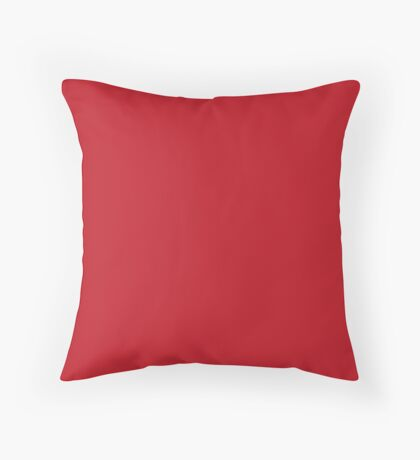 Red | Solid Color Throw Pillow
